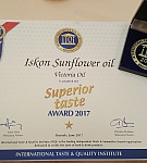Superior Taste Award za Iskon